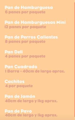 Menú de Pan de Tata - federadiove